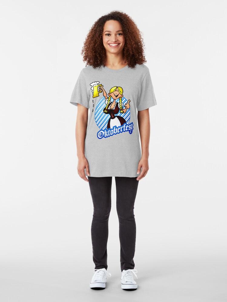 Alternate view of Oktoberfest - girl in a dirndl Slim Fit T-Shirt