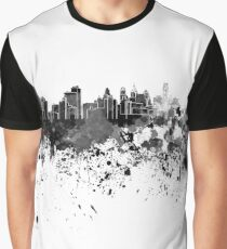 Philadelphia skyline in black watercolor Graphic T-Shirt
