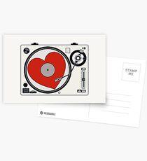 Retro Record Player Postcards