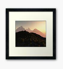 Towering Mountain Peaks Framed Print