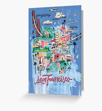 San Francisco illustrated Map Greeting Card