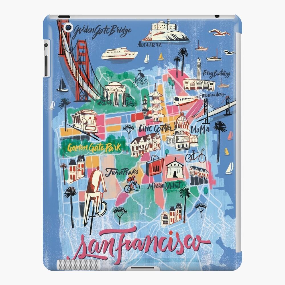 San Francisco illustrierte Karte iPad-Hülle & Skin