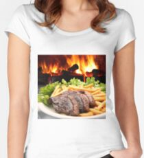 Barbecue Women's Fitted Scoop T-Shirt