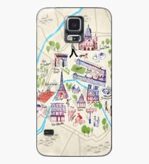 Paris illustrated Map Case/Skin for Samsung Galaxy