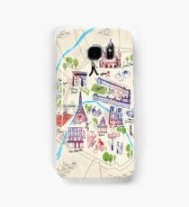 Paris illustrated Map Samsung Galaxy Case/Skin