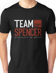 Team Spencer Reid (White on Black) Unisex T-Shirt