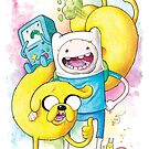 Finn and Jake by Daniel Savoie