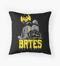 A night with Bates Throw Pillow