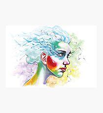 Blue Hair 1 Photographic Print