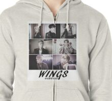 BTS Wings Merchandise Zipped Hoodie