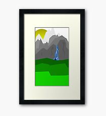 Nature and Mountains Framed Print