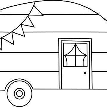 Etiqueta engomada del remolque de camping de smalltownnc
