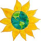 Watercolor Earth Flower by alexavec
