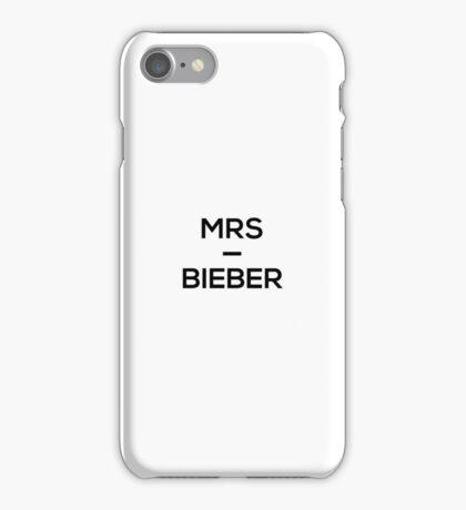 Mrs Bieber iPhone Case/Skin