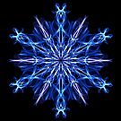 .Ice Blue Snowflake - Energy Mandala by Leah McNeir