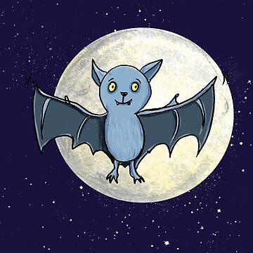 Bat flies through the night by Tessa-Rath