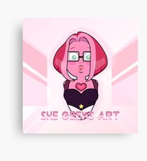 She Geeks Art Canvas Print
