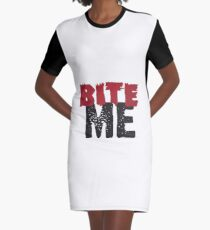 Bite Me Graphic T-Shirt Dress