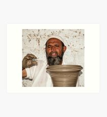 Bishnoi Village Potter Art Print