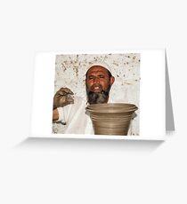 Bishnoi Village Potter Greeting Card