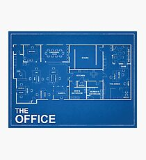 The Office Blue Print  Photographic Print