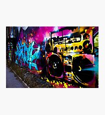 Boombox Graffiti Photographic Print
