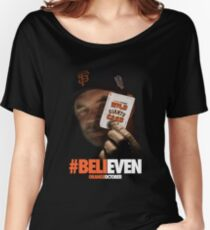 Giants Wild Card: #BeliEVEN Women's Relaxed Fit T-Shirt