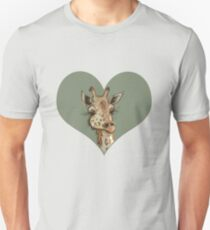 Lovely Lashes Giraffe Unisex T-Shirt