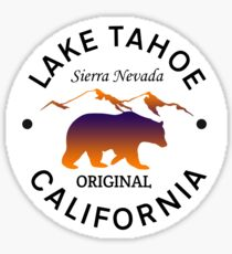 LAKE TAHOE CALIFORNIA SIERRA NEVADA ORIGINAL LAKE BOAT BOATING BEAR Sticker