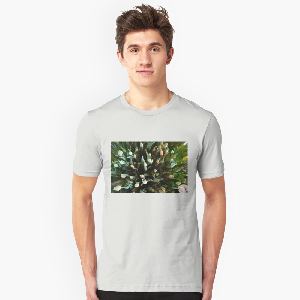 COLORFUL SPREAD OF TULIPS Unisex T-Shirt Front