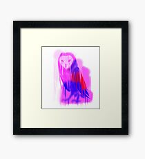 Melting Owl Framed Print