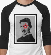 Tesla Rocks! Men's Baseball ¾ T-Shirt