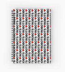 Love Robots Spiral Notebook