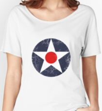 Military Roundels - United States Army Aviation Corps - USAAC Women's Relaxed Fit T-Shirt