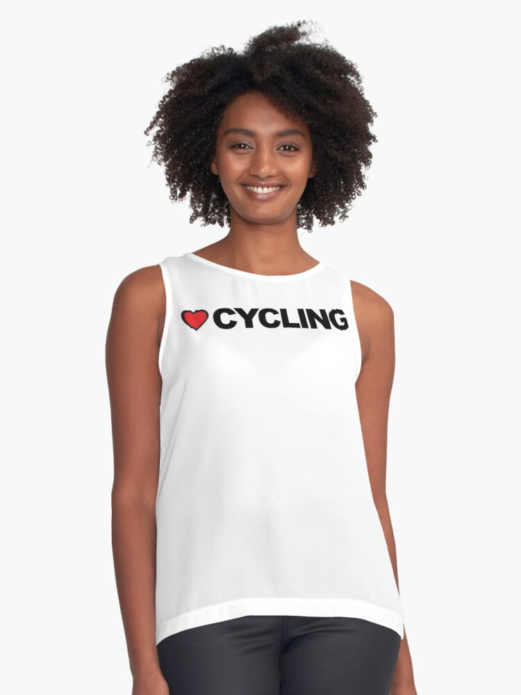 Love Cycling Contrast Tank Front