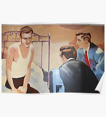 Alcoholics Anonymous Man on Bed Poster