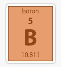 Boron Element Sticker