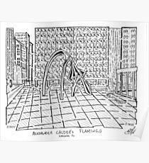 Calders Flamingo Sculpture Maze Poster