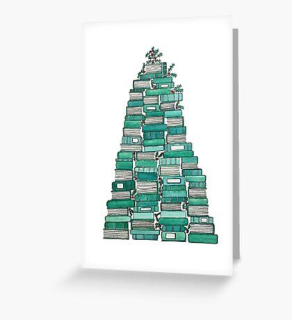 Bookish Christmas Tree Greeting Card
