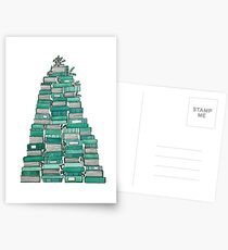 Bookish Christmas Tree Postcards