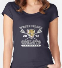 Whore Island Ocelots - Archer Women's Fitted Scoop T-Shirt