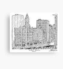 Wrigley Building Maze Canvas Print