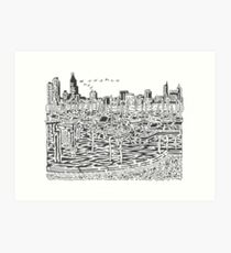 View From the Planetarium Maze Art Print