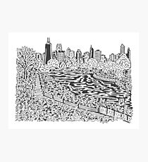 View from Lincoln Park Zoo Maze Photographic Print