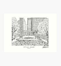 Wrigley Square Maze Art Print