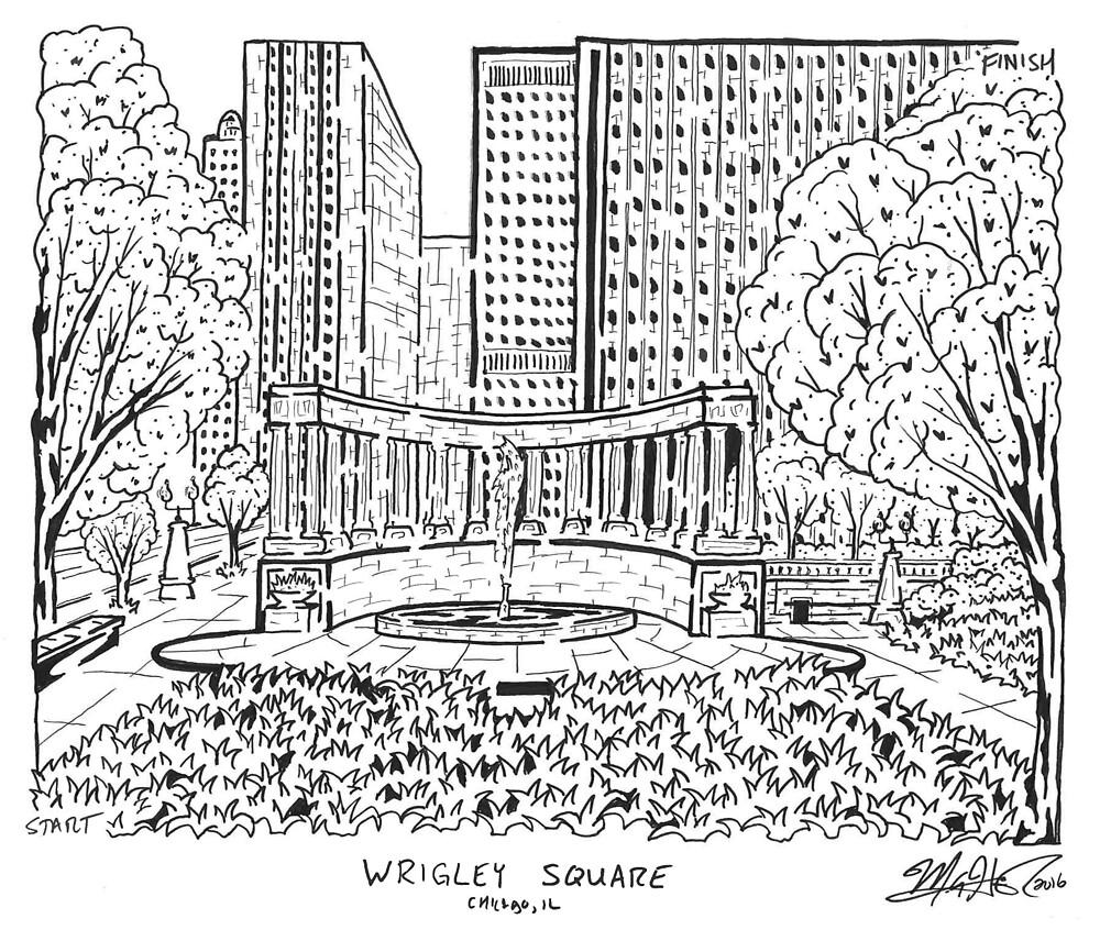 Wrigley Square Maze by matthewsmazes