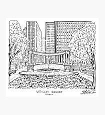 Wrigley Square Maze Photographic Print