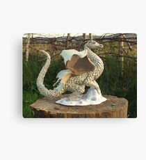 Finderel White Dragon Canvas Print
