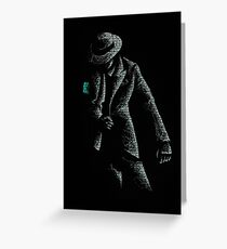 Michael Jackson Smooth Criminal Greeting Card