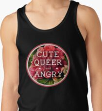 Cute, Queer and Angry Men's Tank Top